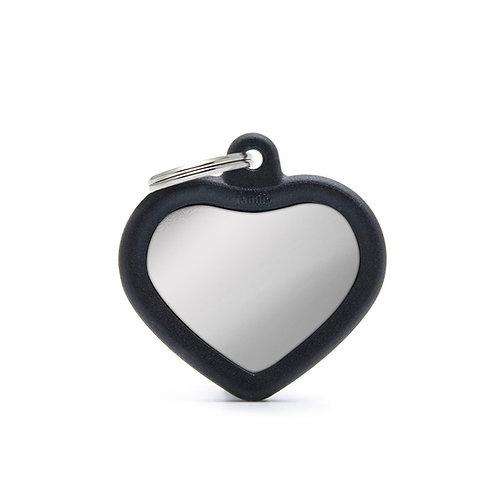 Corazón Hushtag Cromada