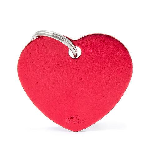 Corazón Aluminio Rojo