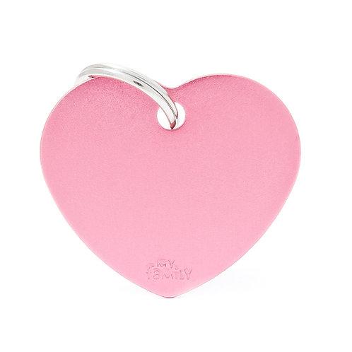 Corazón Aluminio Rosado