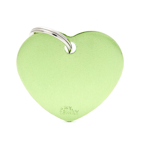 Corazón Aluminio Verde