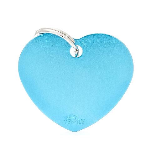 Corazón Aluminio Celeste