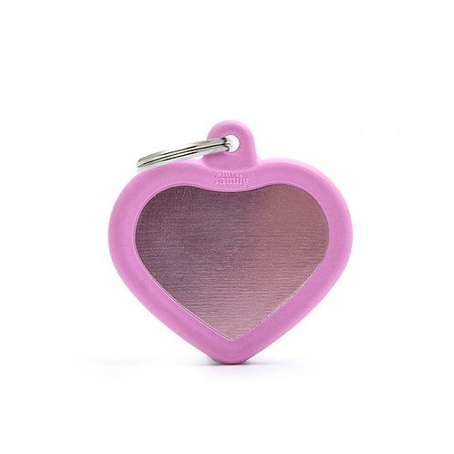 Corazón Hushtag Rosado