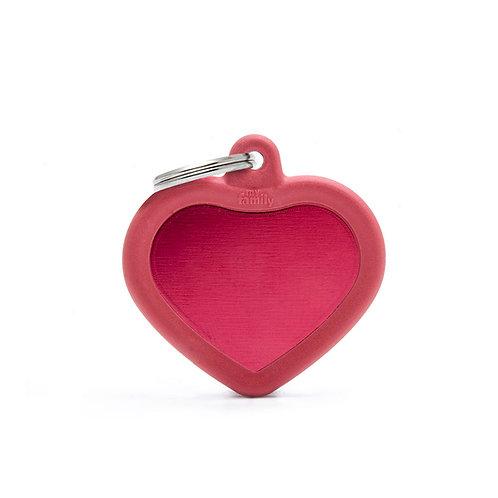 Corazón Hushtag Rojo