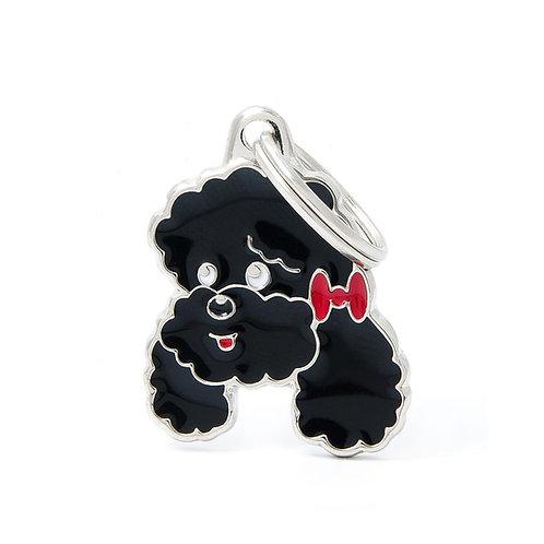 Poodle Caricatura Negro