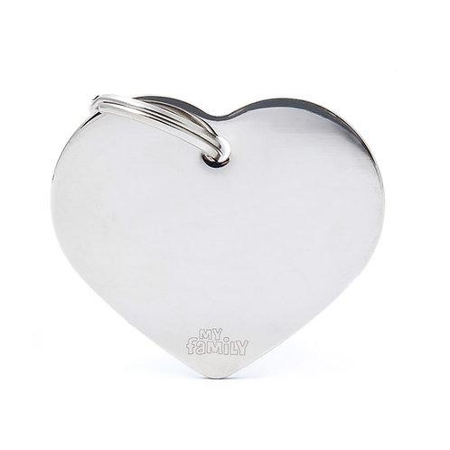 Corazón Aluminio Cromada