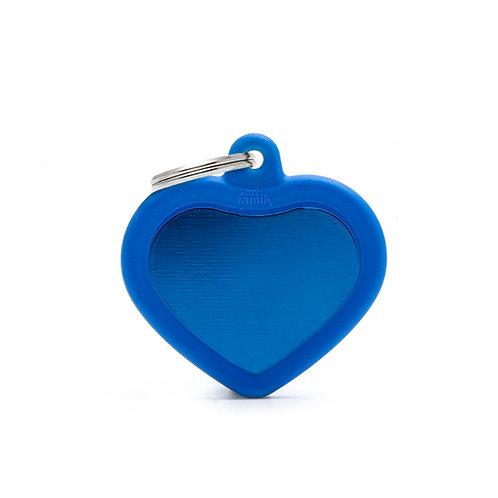 Corazón Hushtag Azul