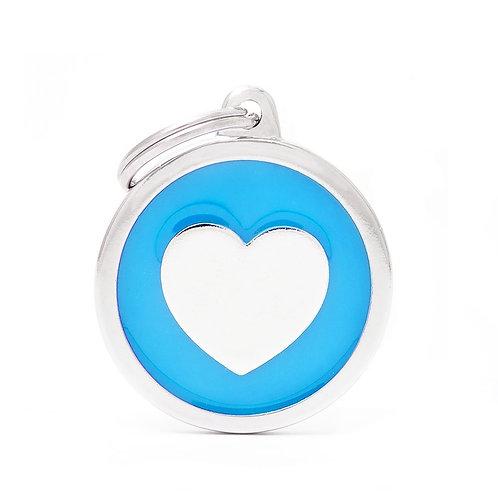 Corazón Círculo Classic Azul