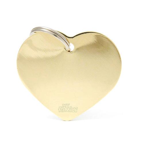 Corazón Aluminio Dorado