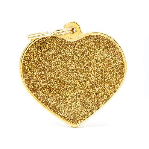 Corazón Shine Dorado