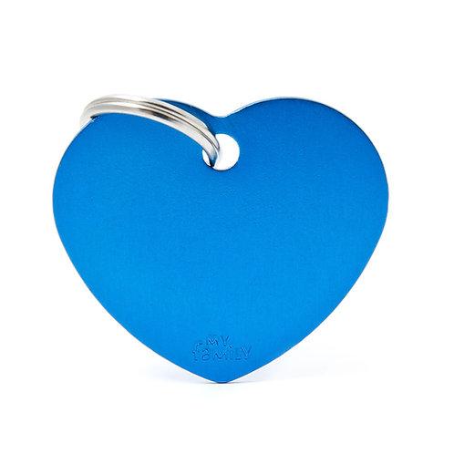 Corazón Aluminio Azul