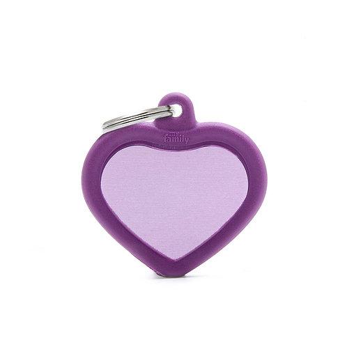 Corazón Hushtag Morado