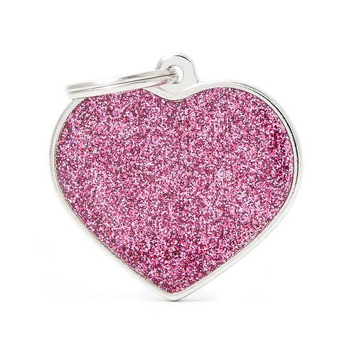 Corazón Shine Rosado