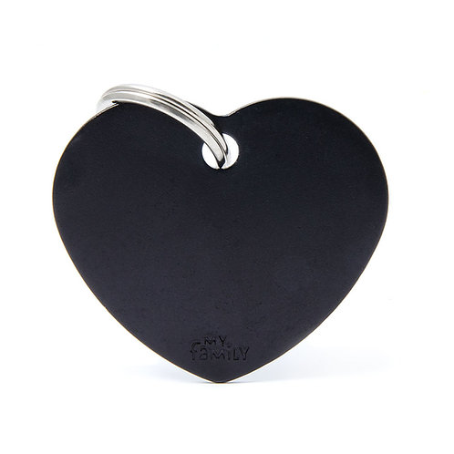 Corazón Aluminio Negro