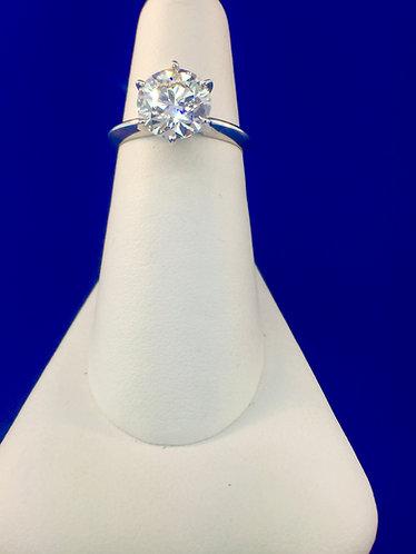 Platinum diamond solitaire ring 2.32 ct.