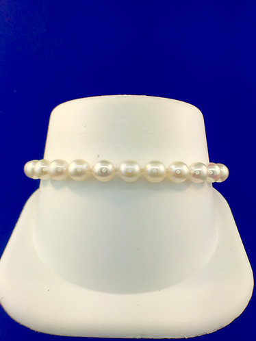 6-6.5 mm Akoya pearl bracelet 7 inch
