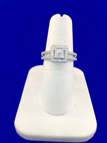 14kt.white gold diamond engagement ring