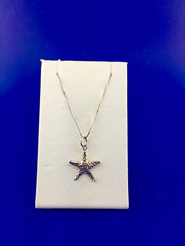 14kt. white gold starfish pendant