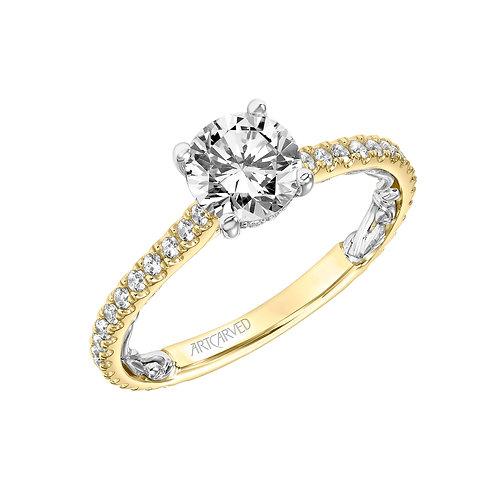 14kt. yellow gold diamond semi mount