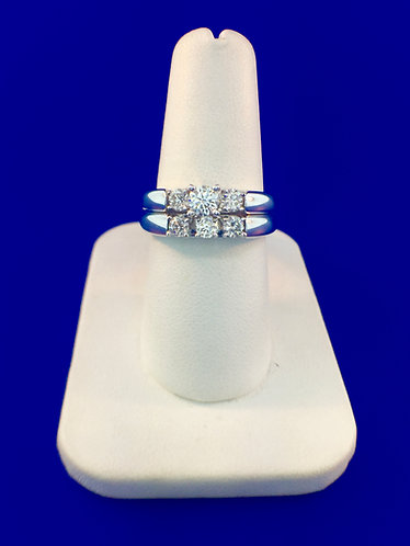 14kt. white gold diamond engagement set
