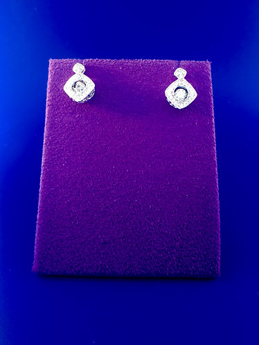 Twinkles Swarovski cut CZ and sterling silver earrings
