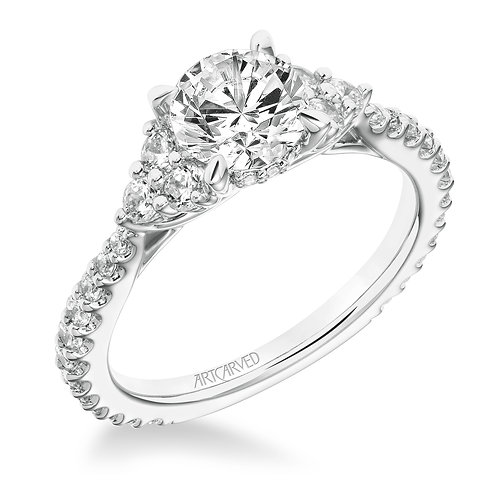 14kt. white gold diamond semi mount