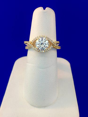 18kt. yellow gold diamond ring