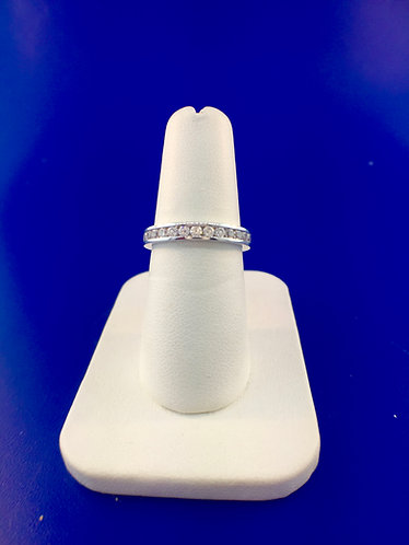 14kt. white gold diamond channel eternity band