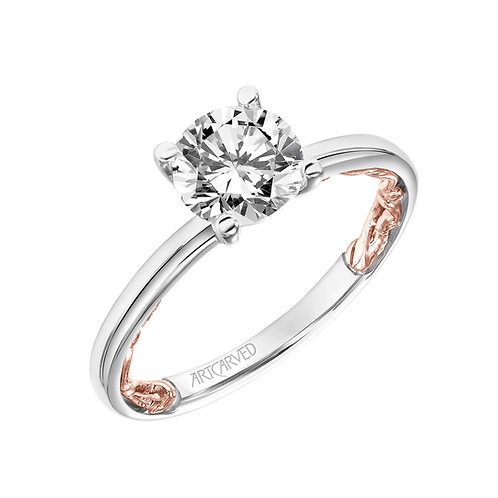14kt. white and rose gol solitaire mounting