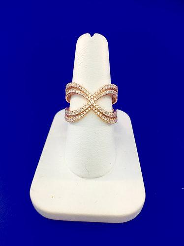 14kt. rose gold diamond fashion ring