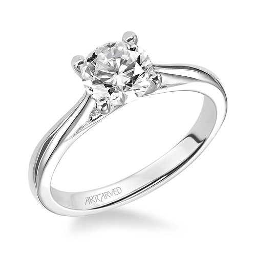 14kt. white gold solitaire