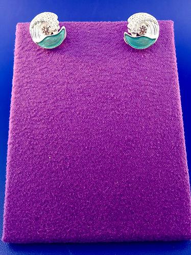 Twinkles Swarovski cut CZ and sterling silver earrings