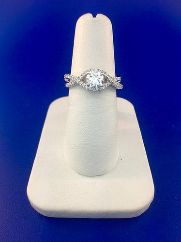 14kt. white gold diamond engagement ring