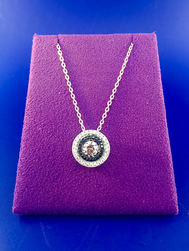 Twinkles Swarovski cut CZ and sterling silver pendant