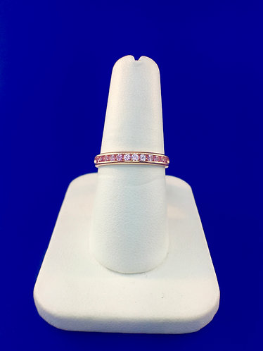 14kt. rose gold and natural pink sapphire band