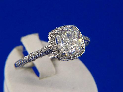 1.80 ct. VS2 J cushion diamond ring