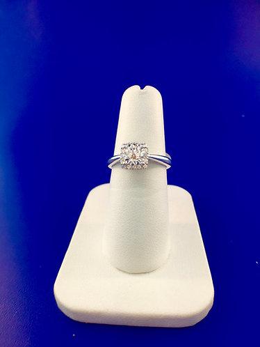 14kt.white gold diamond semi mount