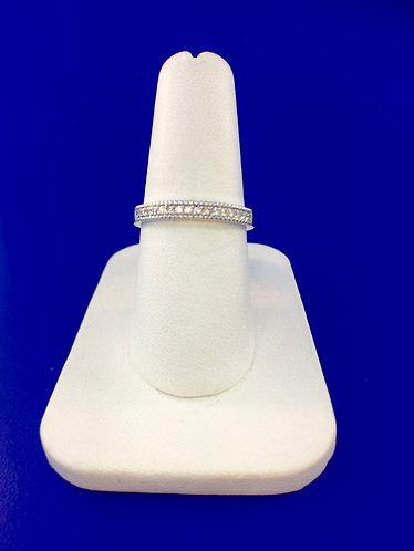 14kt. white gold natural diamond band