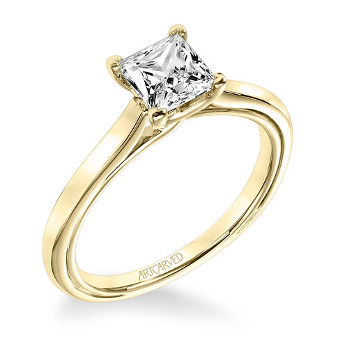 14kt. yellow gold solitaire