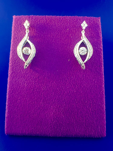 Twinkle Swarovski cut CZ and sterling silver earrings