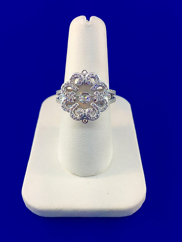 Twinkles Swarovski cut CZ and sterling silver ring