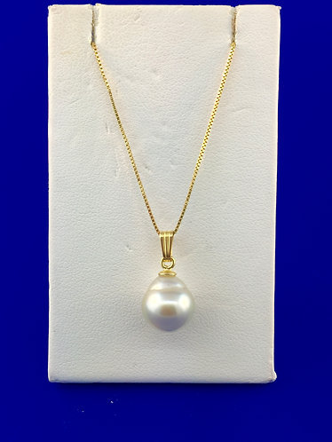 14kt. yellow gold pearl pendant