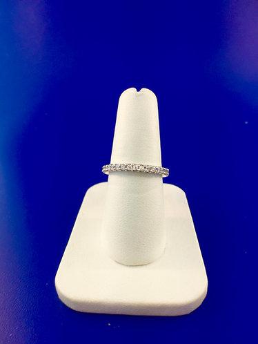 14kt. white gold diamond eternity band