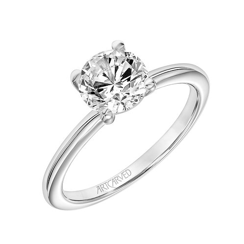 14kt. white gold solitaire mount