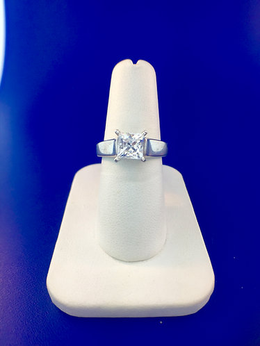 14kt. white gold solitaire mounting