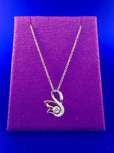 Twinkles Swarovski cut CZ and sterling silver pendant
