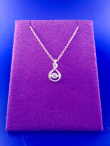 Twinkles Swarovski CZ sterling silver pendant