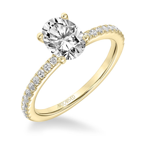14kt. yellow gold diamond semi mount
