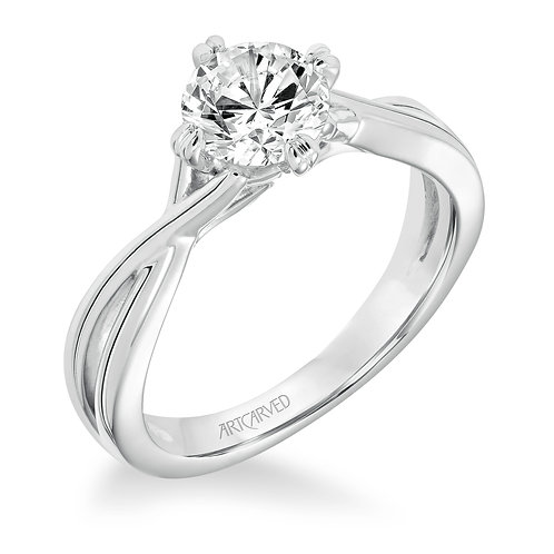 14kt.white gold solitaire