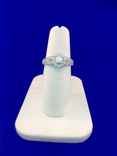 14kt. white gold engagement ring