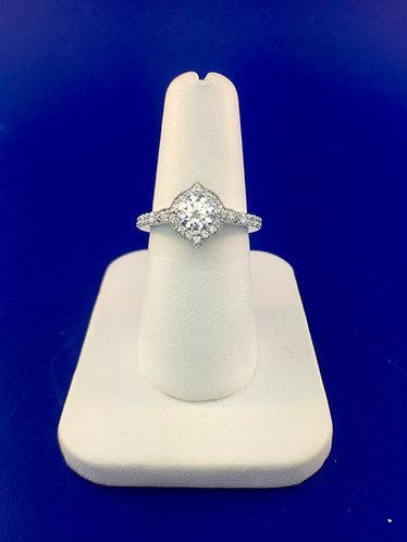 14kt. white gold diamond semi mount